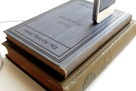 The Dustbunny - Antique Double Book Charging Dock for iPhone and iPod