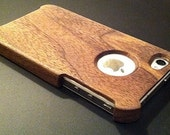SALE: Black Walnut Wooden iPhone 4/4S case w/LogoView