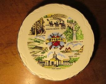 Vintage Oregon State Souvenir Plate