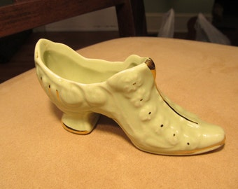 Vintage Ceramic Miniature Shoe