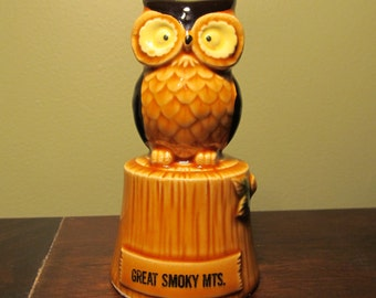 Vintage Souvenir Owl Bell - Great Smoky Mountains