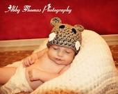 Little Hippo Hat - Newborn Baby Photo Prop Hippopotamus zoo animal photography boy girl