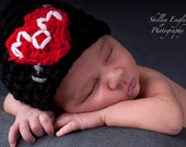 SUPER RUSH I Heart Mom Hat Tattoo Beanie (or Dad) Newborn ANY size color Photo Prop Hat heart baby 0-3 3-6 6-12 mos valentine toddler child