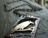 Raven Copper and Brass Riveted Necklace