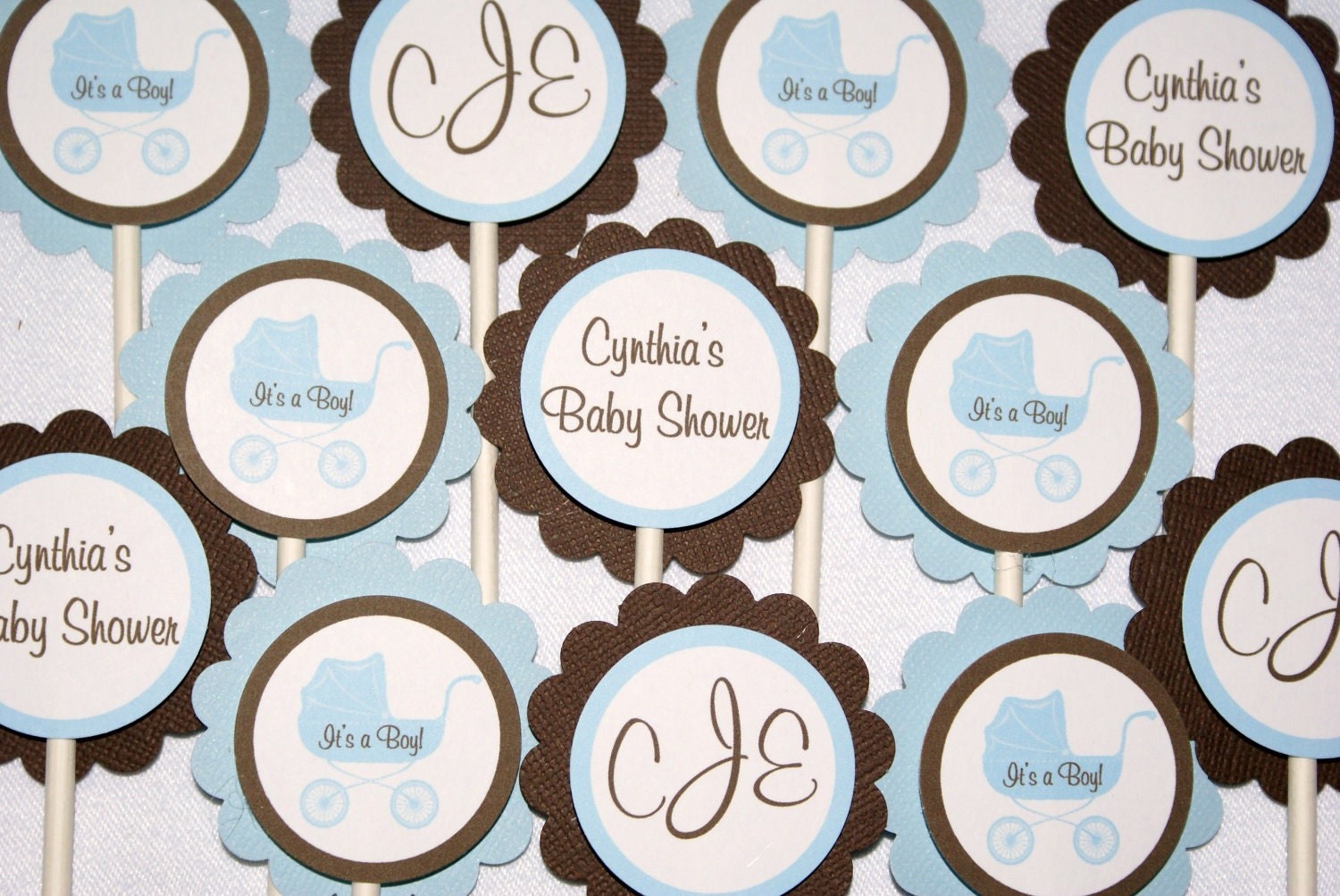 Charming Baby Shower Cupcake Toppers Best Baby Decoration. Baby ...