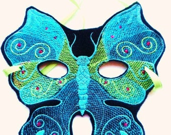 Beautiful Blue Butterfly Mask