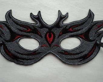Red Mardi Gras Mask