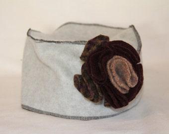Grey and Black Pillbox Hat