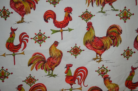 Rooster kitchen curtains