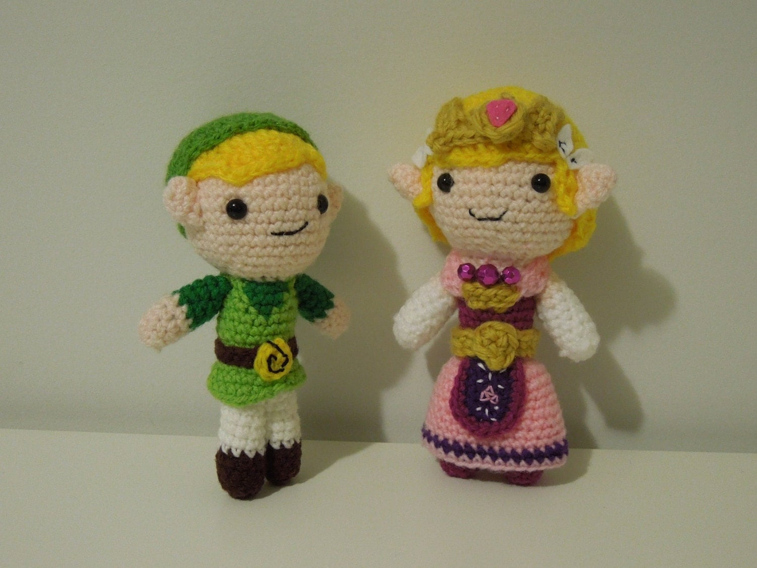 Crochet Zelda Patterns : Link and Zelda Combo CROCHET PATTERN PDF by TheAmigurumiZoo