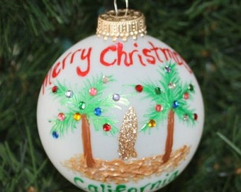 Personalized Surfboard Beach Ornament - Made to Order