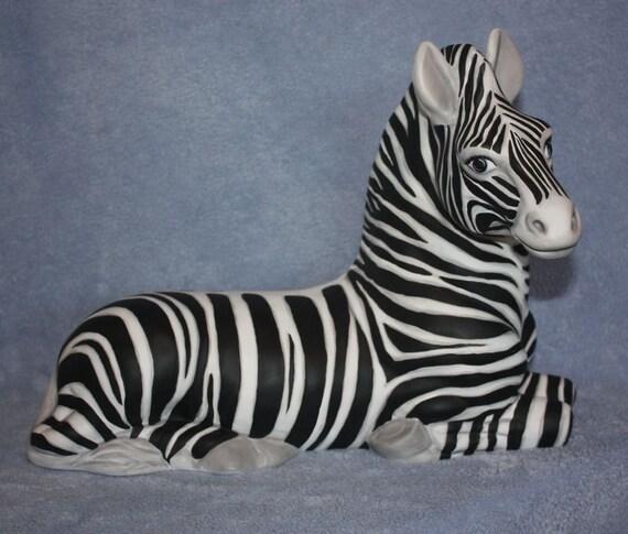 Handpainted Ceramic Zebra