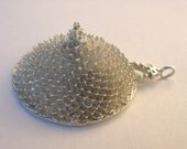 Reserved for Nicole. Bold, conical sterling silver pendant