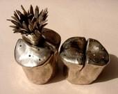 Succulent bronze salt and pepper set (3)