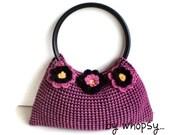 Think pink flower bag