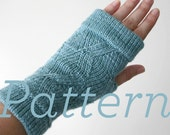 Knit Fingerless Gloves Pattern // Cuffed ZigZag Fingerless Mitts  - PATTERN ONLY - PDF