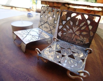 Variety Of Sterling Silver Jewish Candle Houses