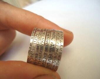 Seven Silver Rings - Seven blessings.