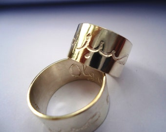 engraved silver jewish wedding ring - Jewish Wedding Rings