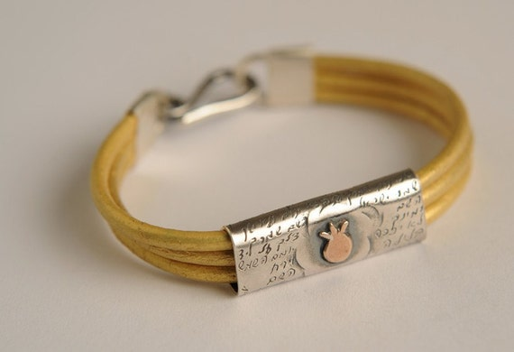 Silver and Gold Pipe Bracelet