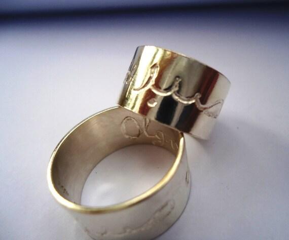 Engraved Silver Jewish Wedding Ring