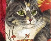Calico Cat Signed Giclee  Print