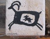 Free Shipping-Mountain Sheep Petroglyph on Stone - Use Coupon Code: HOLIDAY2011