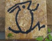 Rabbit Petroglyph on Stone