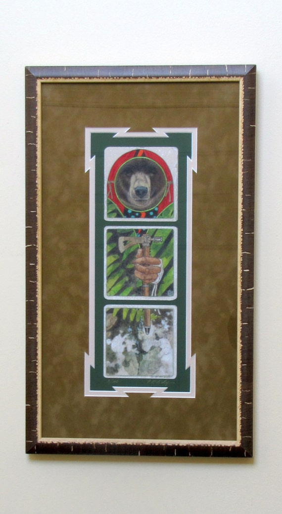 Native American Signed & Numbered Limited Edition Giclee'  Council Fires