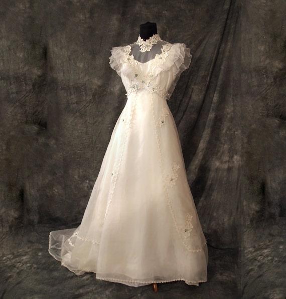 Vintage wedding dress something old something blue 70s s for 70s style wedding dress