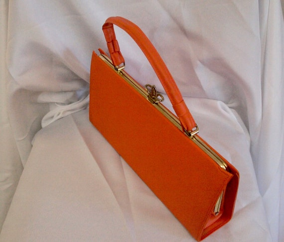 Orange Vintage Purse, 60s