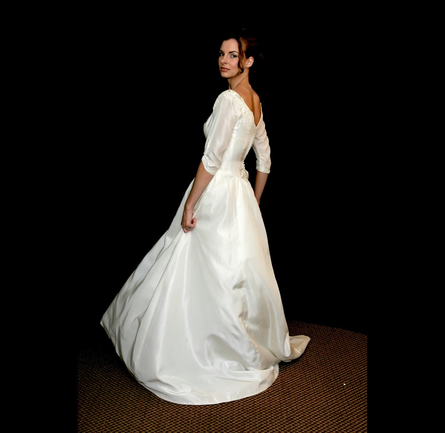 Priscilla of boston vintage wedding dress s to m by for Wedding dress stores boston