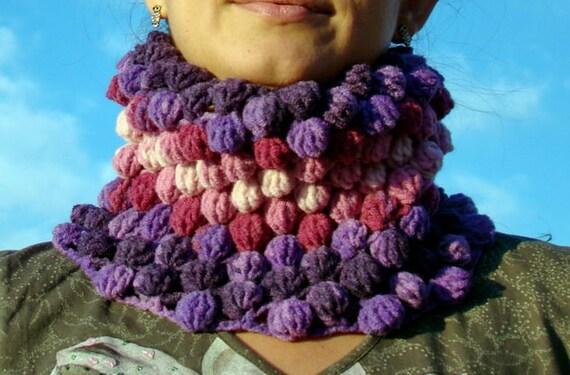 Magic Bubble Crochet  Neck Warmer by olimpa