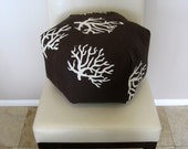 "18"" Ottoman Pouf Floor Pillow Premier Prints Coral Safari"