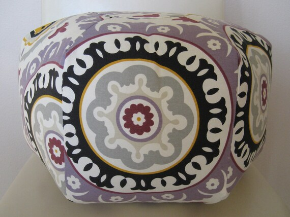 "More Colors - 18"" Ottoman Pouf Floor Pillow Waverly Solar Flair"