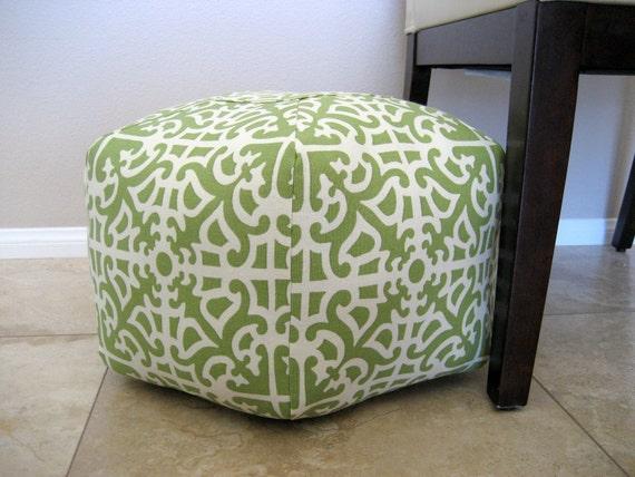 Grass Floor Pillows : 18 Ottoman Pouf Floor Pillow Waverly Parterre Grass by aletafae