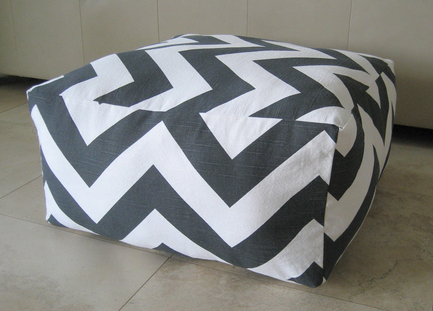 Floor Pillows For Playroom : More Colors Square Pouf Floor Pillow Charcoal White by aletafae