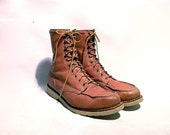 Vintage Lumber Jack Work Boots.