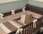 Pink Garden, 3-Piece set - Crib Bumper, Blanket, Sheet