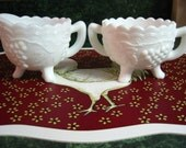 Vintage Imperial Milk Glass: Creamer and Sugar Bowl