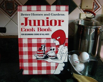Vintage Better Homes & Gardens Junior Cook Book - Junior Cookbook - Better Homes and Gardens - Vintage Cookbook - Cookbook