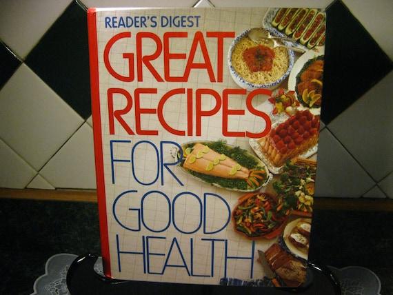 Vintage Cookbook: Reader's Digest Great Recipes For Good Health Cookbook