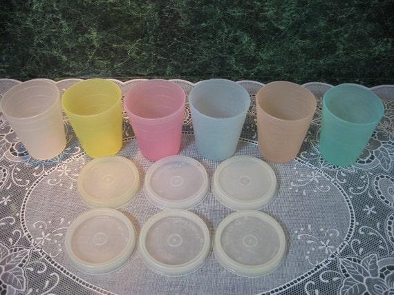Vintage Tupperware: Six Pastel  Midgets
