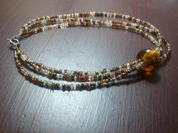 mocha sunrise - a very captivating beaded bracelet