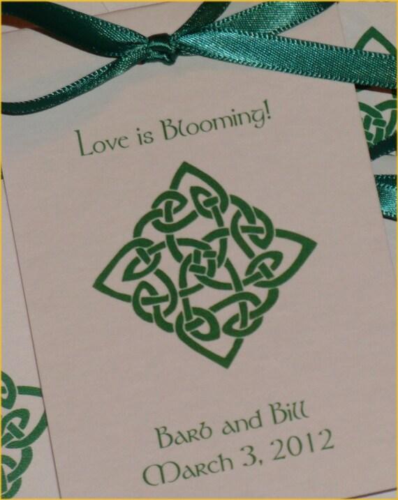 Irish Celtic Knot Wedding Flower Seeds Party Favors Bridal