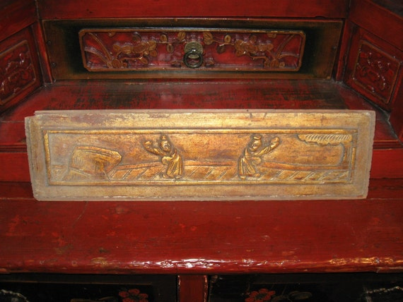 Chinese wedding bed panel
