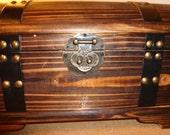 Vintage Wooden Treasure Chest Handmade Wooden Memory Box Chest Hope Chest