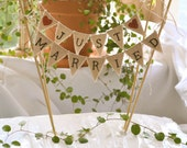 Just Married Wedding Cake Topper Banner