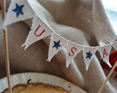 4th of July Baker Banner (in white cotton) - atCompanyB