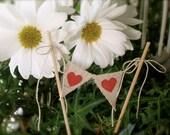 Two Hearted Baker Banner Wedding Cake Topper